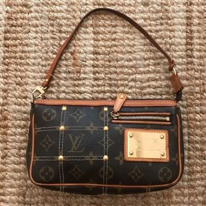 Louis Vuitton riveted pochette purse